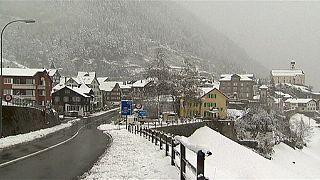 L'hiver arrive en Suisse