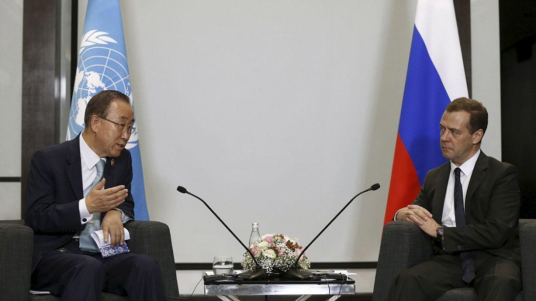 Ban Ki-moon appelle Américains et Russes à coopérer contre le terrorisme