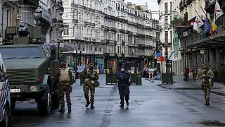 Empty streets in Brussels, the city remains on lockdown