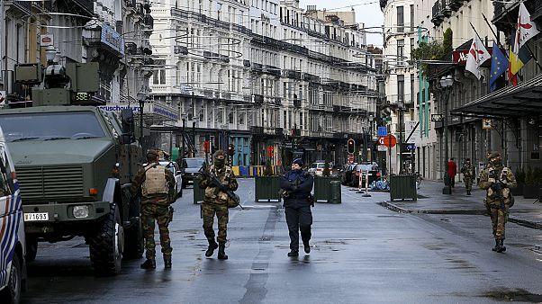 خیابانهای بروکسل خالی و سوت و کور
