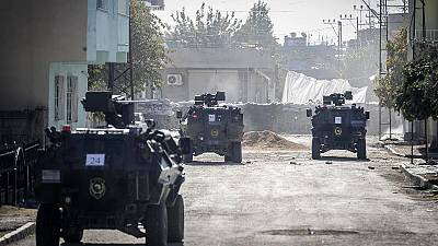 Clashes in Nusaybin in south eastern Turkey
