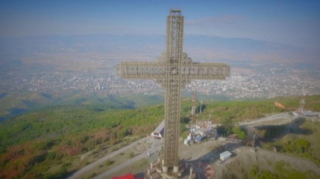 Sul Monte Vodno per ammirare il panorama su Skopje