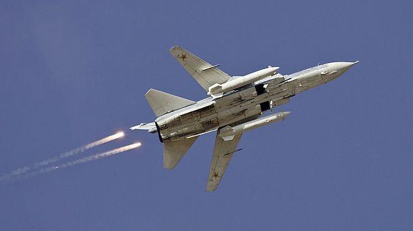 اسقاط طائرة حربية روسية بعد انتهاكها للمجال الجوي التركي