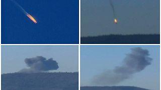 تركيا تسقط طائرة روسية وقوات المعارضة السورية تقول إن الطيارين قتلا قبل وصولهما الأرض