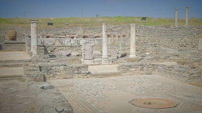 Le rovine di Stobi, antica città romana