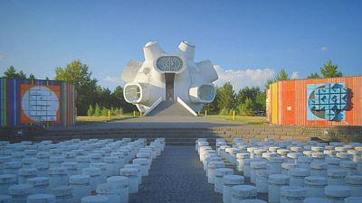 Macedonian Postcards: Ilinden monument (Makedonium) - Krusevo