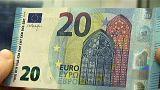 Avrupa'da yeni 20 Euro'lar dolaşımda