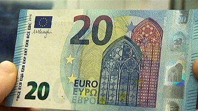Novas notas de 20 euros entram em circulação