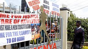 Kenyan athletes continue protest at federation HQ