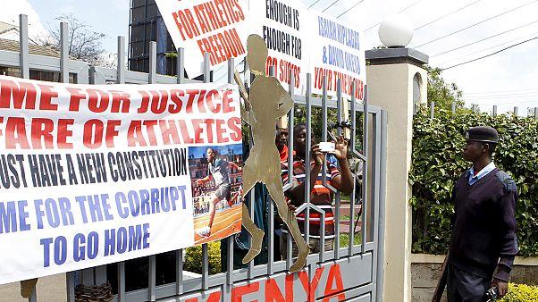 Kenya Federasyonu'na atletlerden protesto