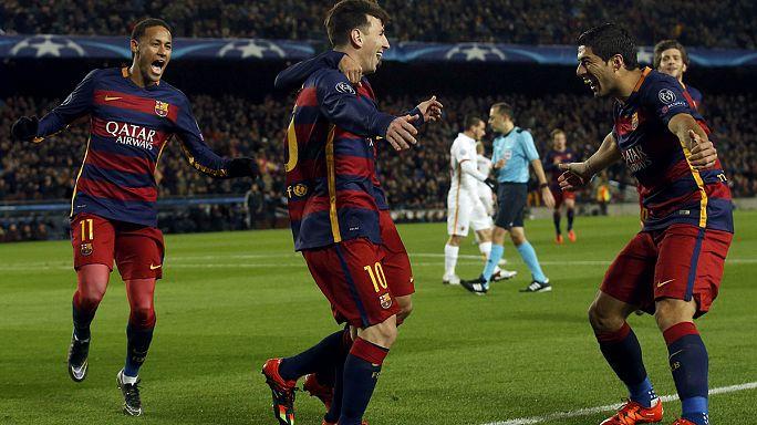 دوري الأبطال: برشلونة يهزم روما بستة أهداف مقابل هدف واحد