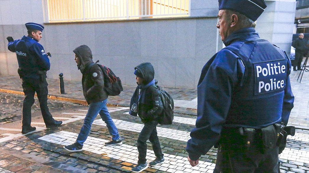 A terrorveszély ellenére is kinyitottak az iskolák Brüsszelben