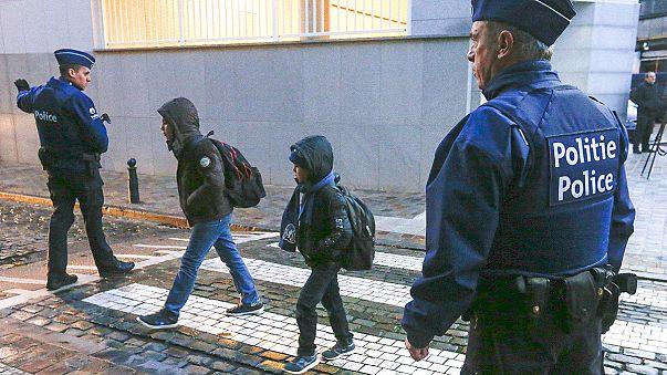 Reapertura de los centros escolares y del metro en Bruselas