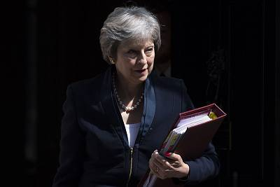 British PM Theresa May\'s government is racked by internal warfare.