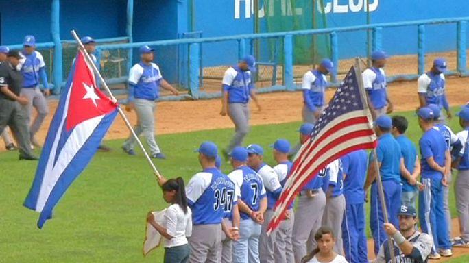 نادي بان ستايت الأمريكي للبيزبول يزور كوبا لأول مرة