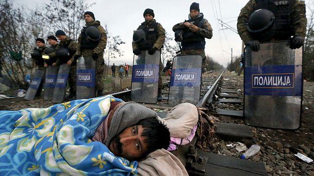 Flüchtlinge leiden unter Winterwetter