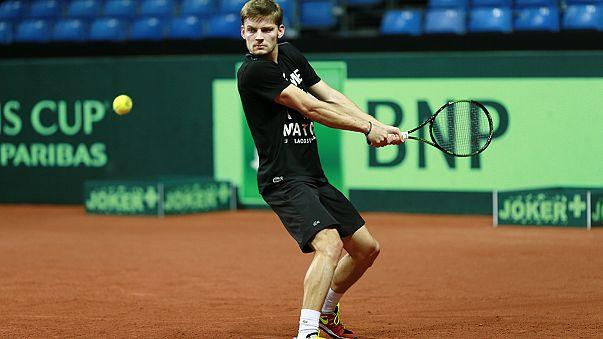 Davis Cup Finale - Goffin wartet auf Andy Murray