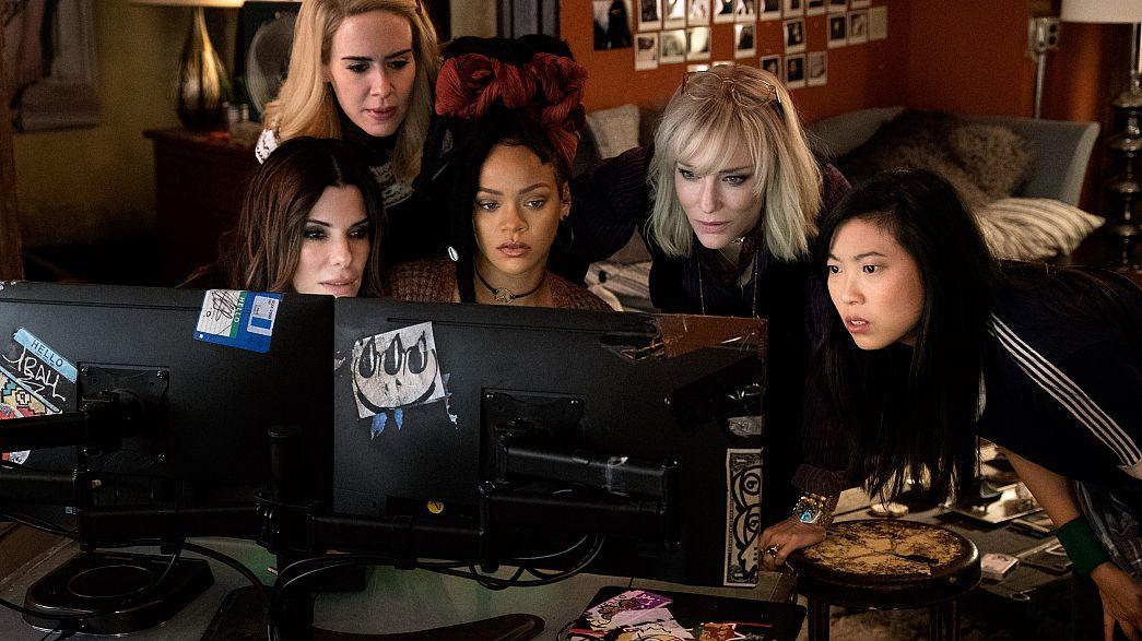 ImagE: Sandra Bullock as Debbie Ocean, Sarah Paulson as Tammy, Rihanna as N