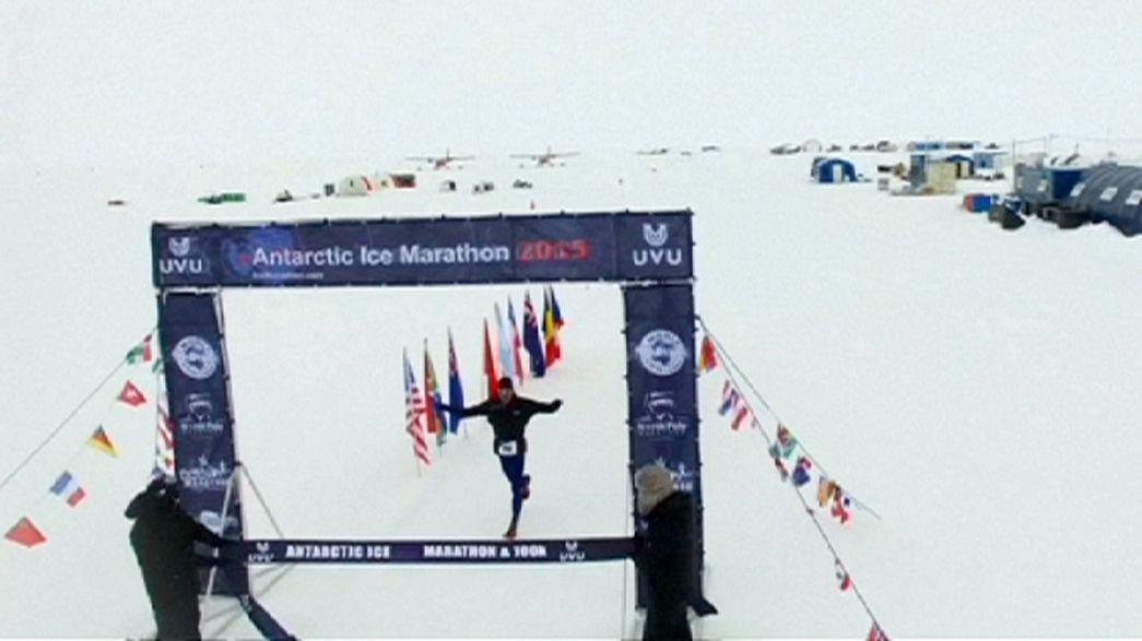Paul Webb y Silvana Camelio ganan la Antartic Ice Marathon