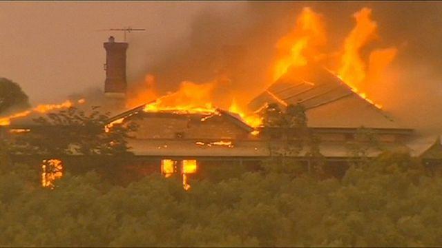 Лесные пожары в Южной Австралии