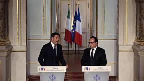 Hollande adds Italy to his coalition before heading to Moscow