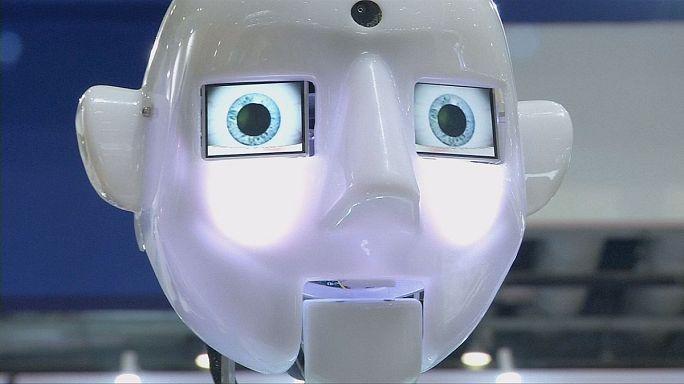 "Android Genminoid F vedette du ""Robot World"" à Pékin"