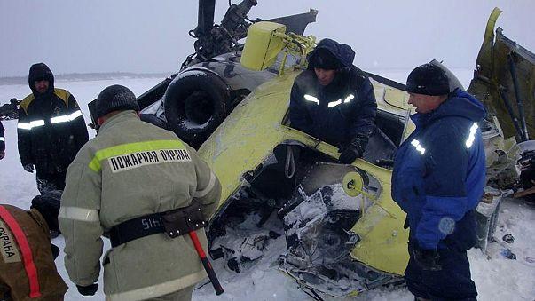 Sibirya'da helikopter kazası: 10 ölü