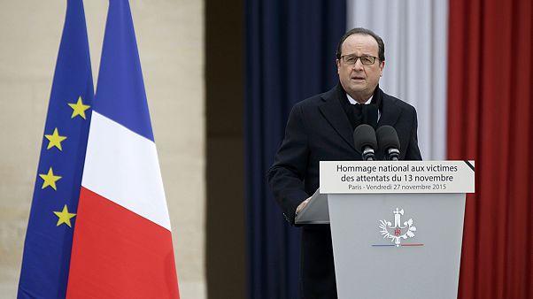 Во Франции на государственной церемонии почтили память жертв терактов