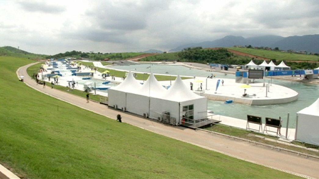 Los piragüistas prueban las instalaciones de Río 2016