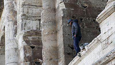 Protest gegen neue Sicherheitsmaßnahmen bei Roms Altertümern