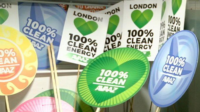 İklim Konferansı öncesi Londra'da dev gösteri hazırlığı