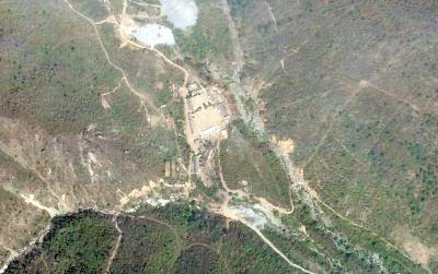 A satellite photo of the Punggye-ri nuclear test site in North Korea in May.