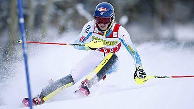Mikaela Shiffrin lidera la prueba de eslalon de Aspen