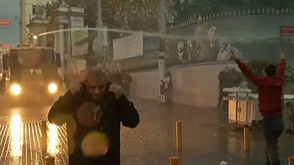 Police fire tear gas at demonstrators in Turkey