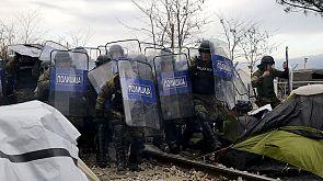 Zusammenstöße zwischen Polizei und Demonstranten in Mazedonien