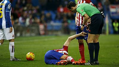 Tiago (Atlético de Madrid) foi operado com êxito e regressa a tempo do Euro'2016