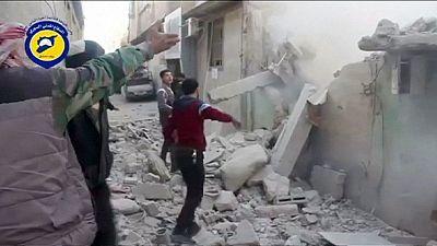 Syrien: Russische Bombardierungen fordern angeblich Dutzende Todesopfer