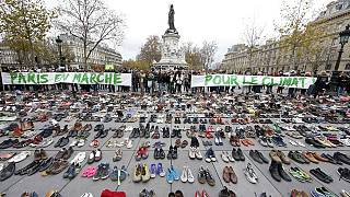 COP21: shoes replace marchers in Paris