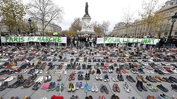 COP21: Παπούτσια στη θέση διαδηλωτών