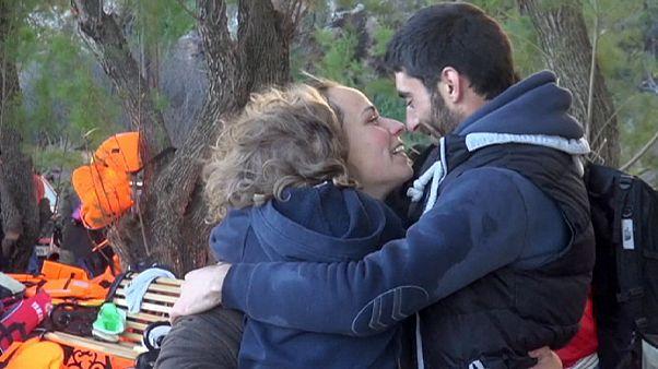 Кризис с мигрантами: разлученная пара воссоединилась на острове Лесбос