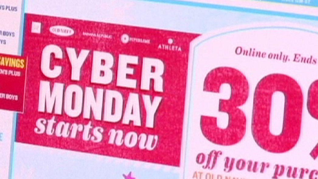 ABD'de alışveriş çılgınlığı Siber Pazartesi ile sürüyor