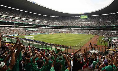Estadio Azteca in Mexico City, one of the great soccer facilities in the world, hosted the finals of the 1970 and the 1986 World Cups.