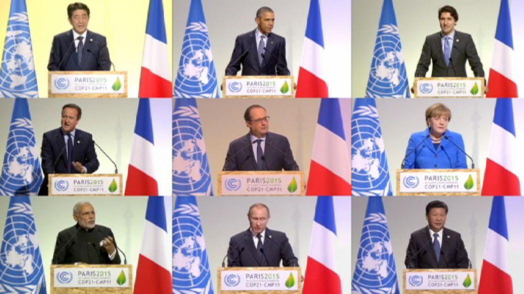 Conferenza clima Parigi: leader mondiali concordi sull'urgenza di un'azione rapida