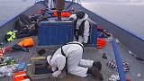 A bordo di una fregata, in cerca di trafficanti d'uomini
