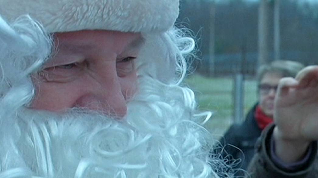The other big summit: Santa Claus and Grandfather Frost meet