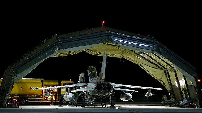 تنفيذ المقاتلات الجوية البريطانية لأولى الغارات في سوريا