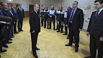 Crimea: Putin inaugura linea elettrica russa
