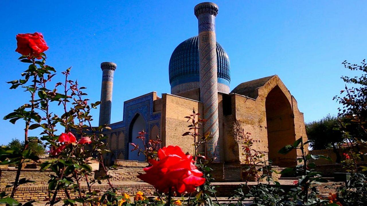 Postcards from Uzbekistan: The Amir Temur Mausoleum, Samarkand