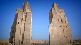 «Открытки из Узбекистана»: дворец Аксарай в Шахрисабзе