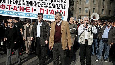 Generalstreik und Demonstration in Athen